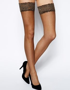 a7bf99ae846 Pretty Polly Aristoc Sensuous 10 Denier Lace Top Stockings