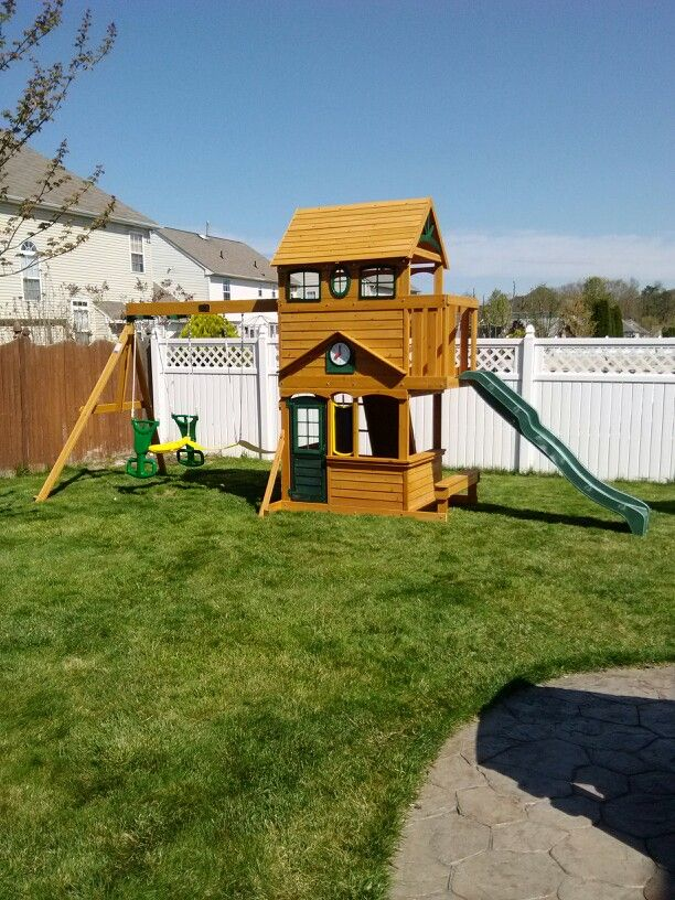 Beau Big Backyard Ashberry Playset From Toys R Us Installed In Berlin, NJ.