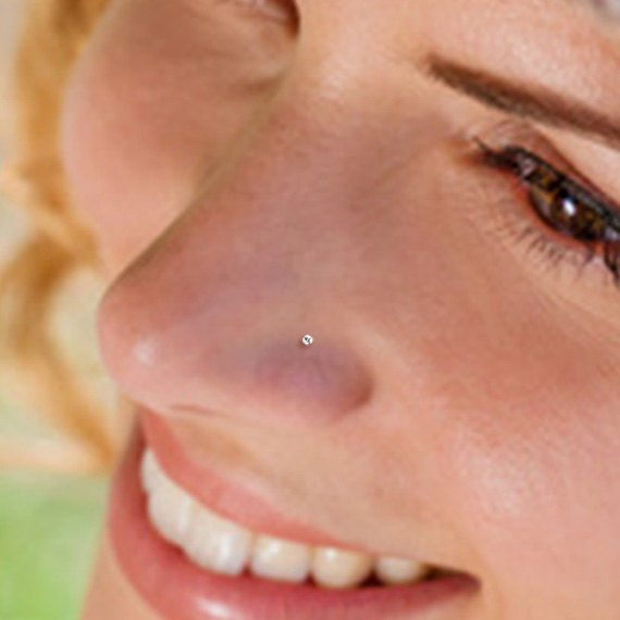 Teeny Tiny 1mm Cz Sterling Silver Nose Stud Nose Ring Silver