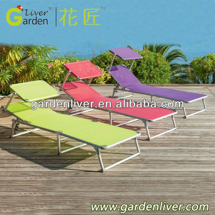 Folding Portable Beach Lounge Chair With Sun Canopy 3 15 Beach