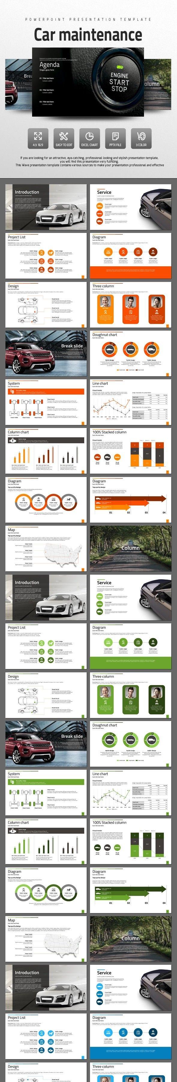 Animated Powerpoint Presentation, Animated Presentation Template, Animated  Template, Automobile, Car, Car