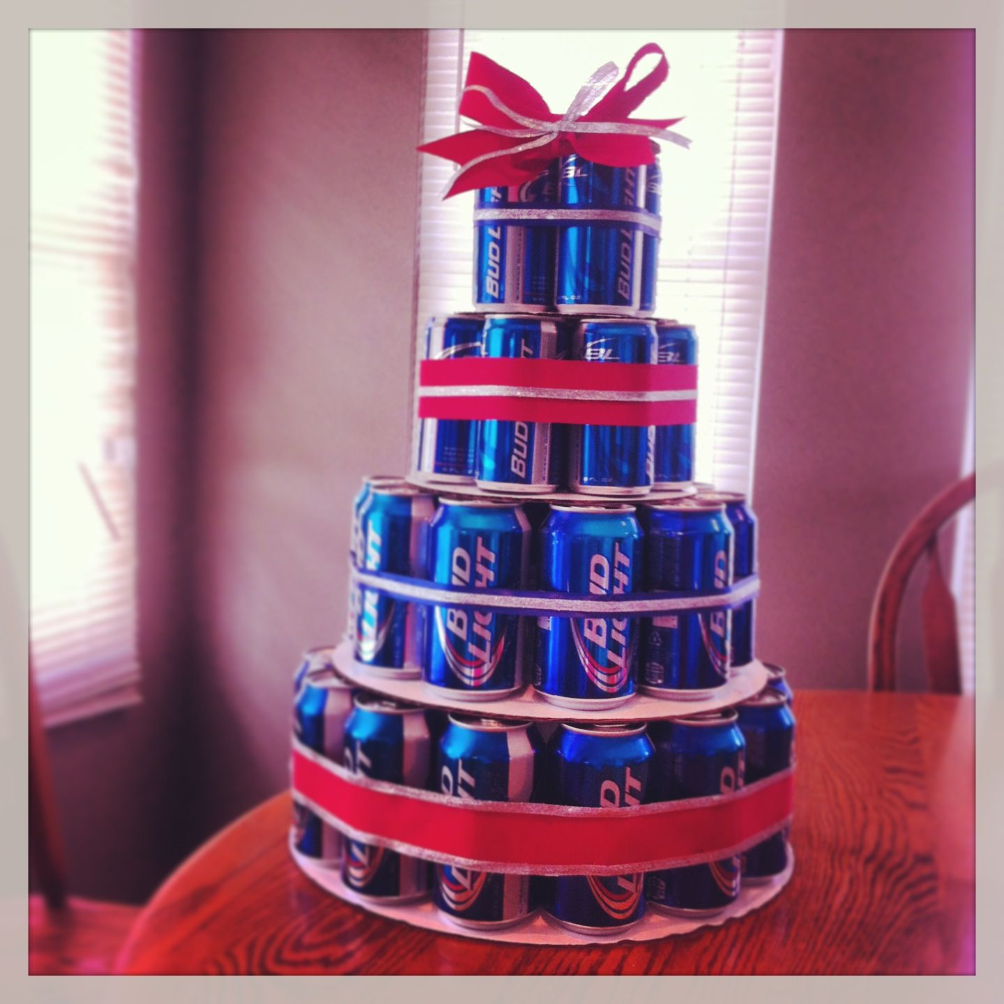 The beer can cake I made! | Birthday Fun | Pinterest