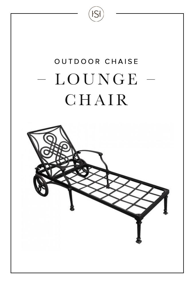 Relax the day's worries away by spending the evening in the Vienna Cast Aluminum Chaise Lounge Chair. This cast aluminum chair is designed for use with a cushion and features wheels for easy moving.