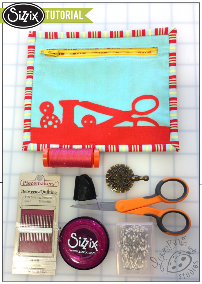 Tim Holtz Tote-orial: Zippered Sewing Kit