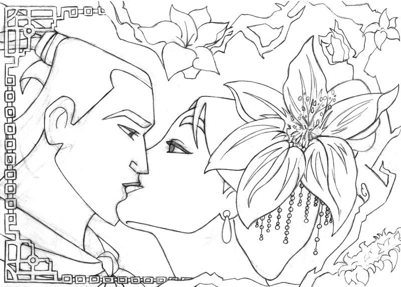 Another request for the kiss series, Mulan and Shang. Description ...