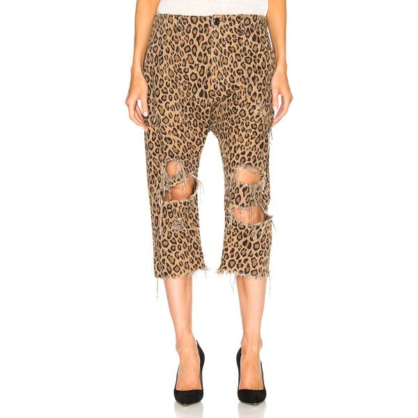 Womens Leopard-Print Cotton Utility Pants R13 pSgFlC