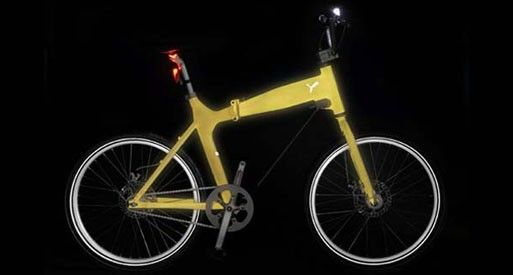 """Puma Glow Rider  Written by Katie on January 30, 2008. Permalink  Surely this isn't the first time someone has thought of a glow-in-the-dark bike, but it's the first I've seen. Word is that Puma's Glow Rider will be available April '08.  """"The night glow effect paint used on the steel frame of the bike collects the sunrays during the day, and gives this light off when darkness has fallen, in the form of a beautiful glow, lasting for several hours….Additional features of the bike are its…"""