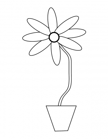 Flower Pot Coloring Page Free Clip Art 229422 Flower - Spring ... | 450x348