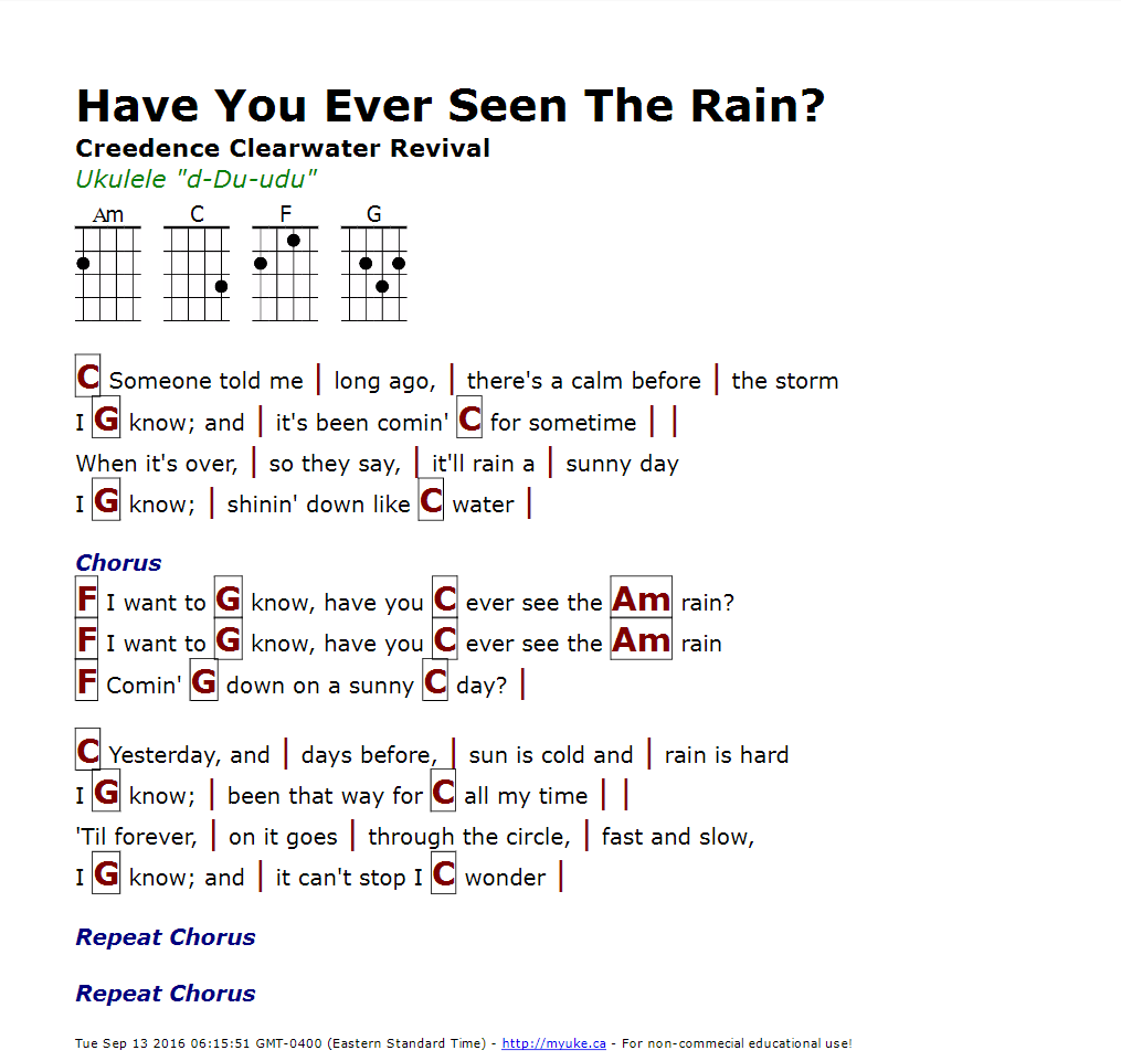 Have You Ever Seen The Rain Creedence Clearwater Revival Http