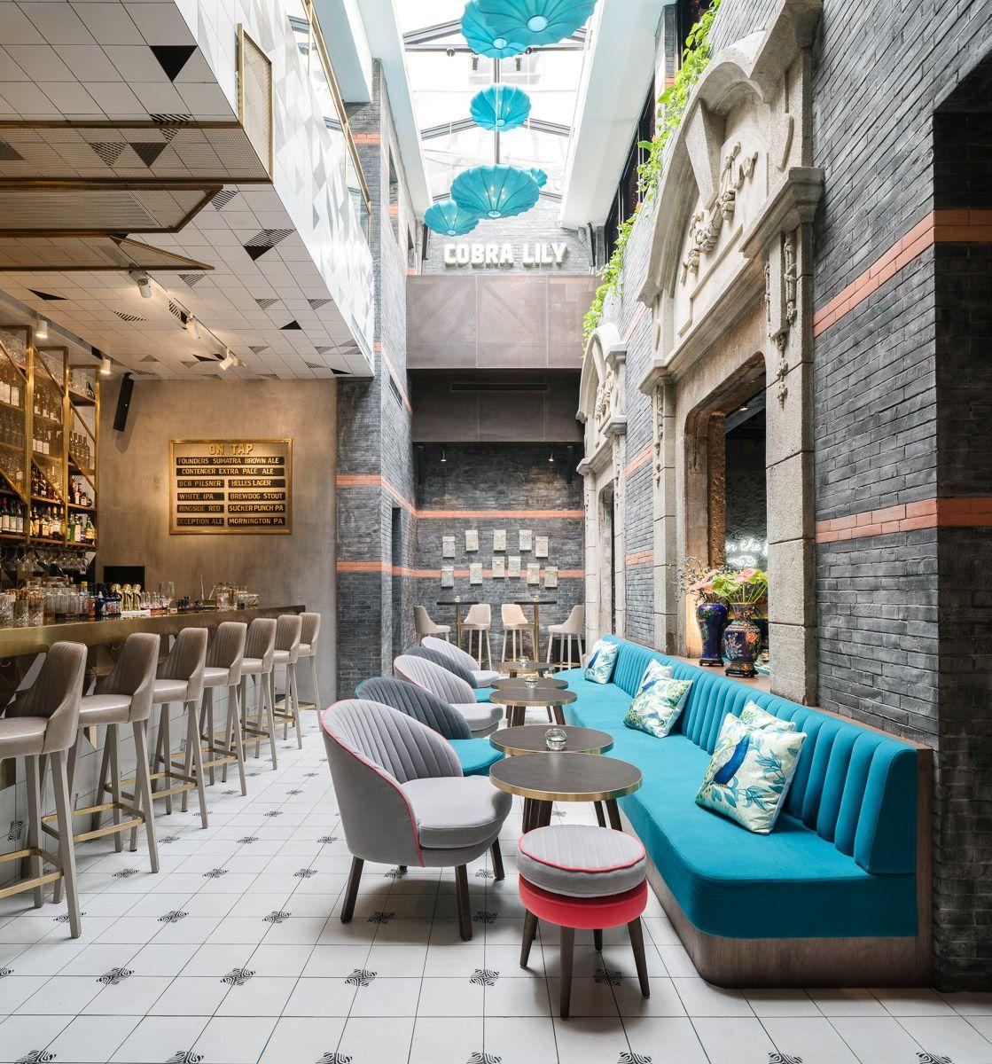 cobra lily, pan-asian restaurant & bar in shanghai. designed
