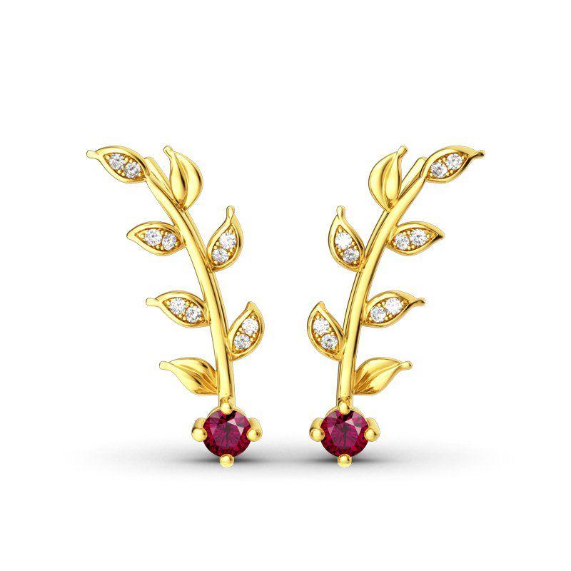 ee5b72fe1 Golden Leaves Earring Climber ..#jeulia #jeuliajewelry #jeuliarings  #jeuliareviews #jeulia