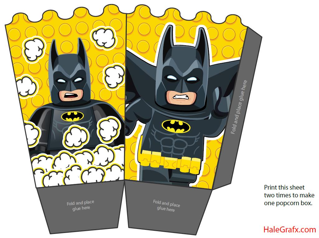 Http Halegrafx Com Printables Free Printable Lego Batman Popcorn Box Cumpleanos Batman Pinata De Batman Caja Para Armar