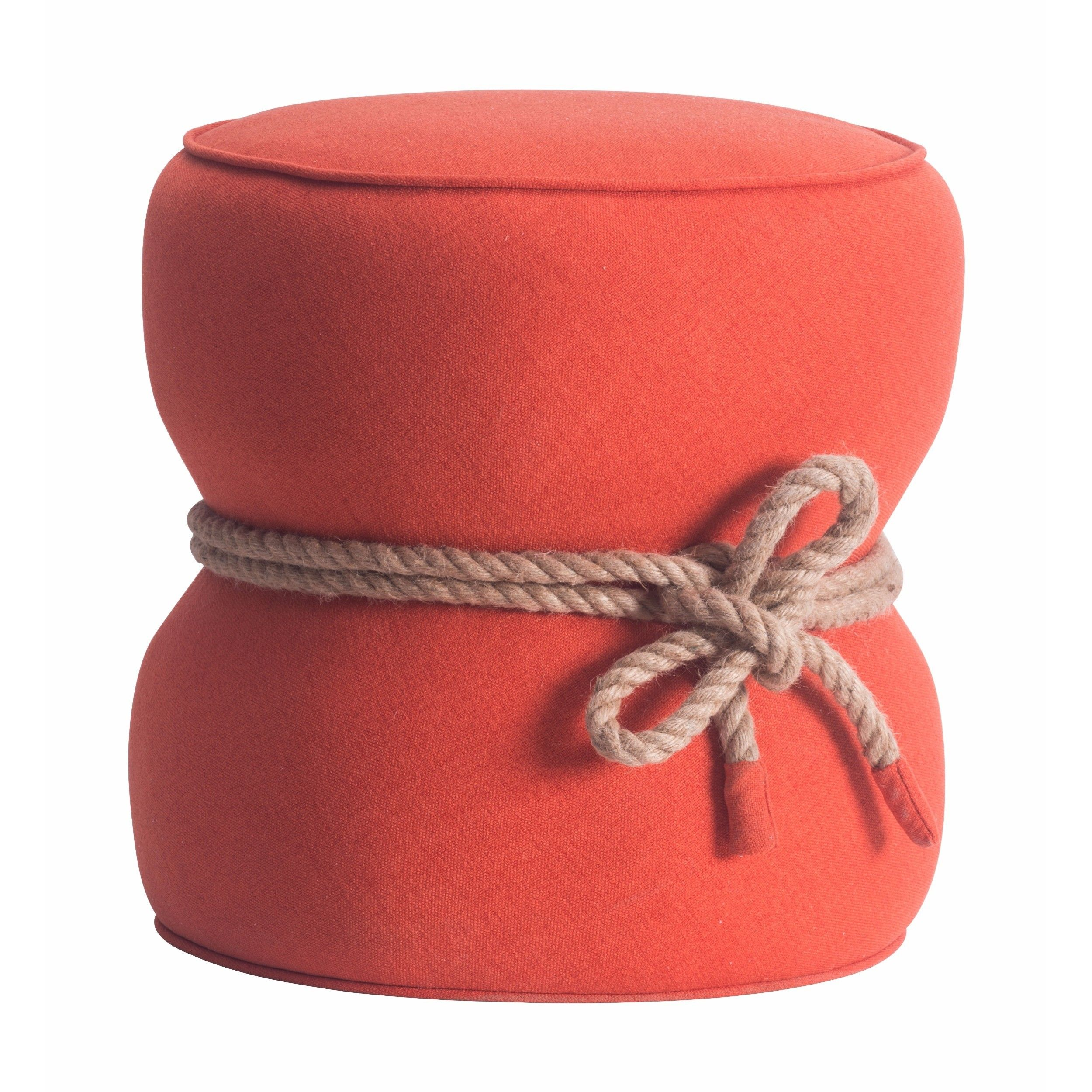 Tubby Ottoman, Orange - Cocktail Ottomans - Accent Tables ...