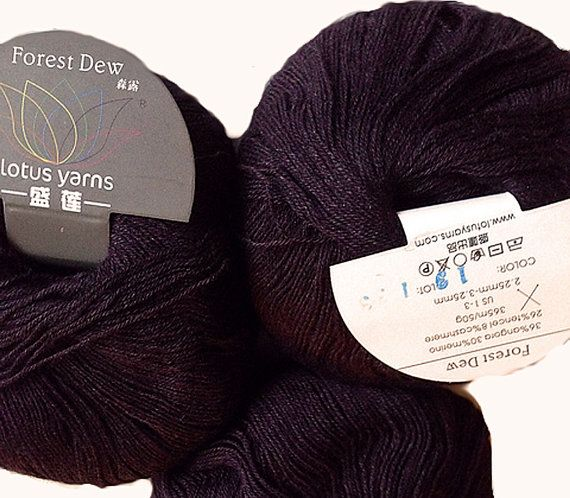 SALE 43% Off Angora-Cashmere Blend Forest Dew Lace by petitknit