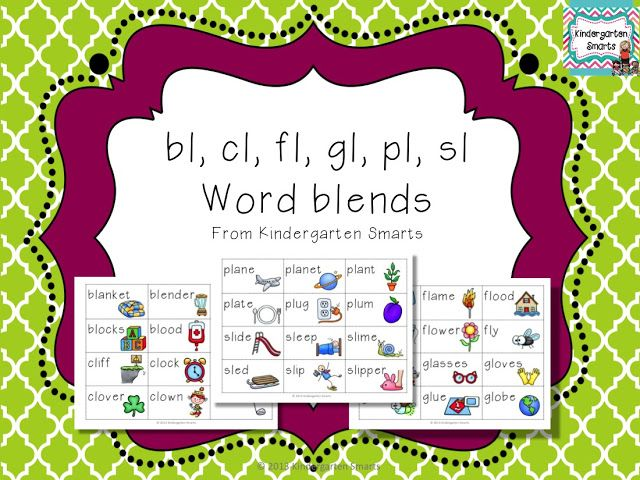 Bl Cl Fl Gl Pl Sl L Word Blend Activity Cl Activities And