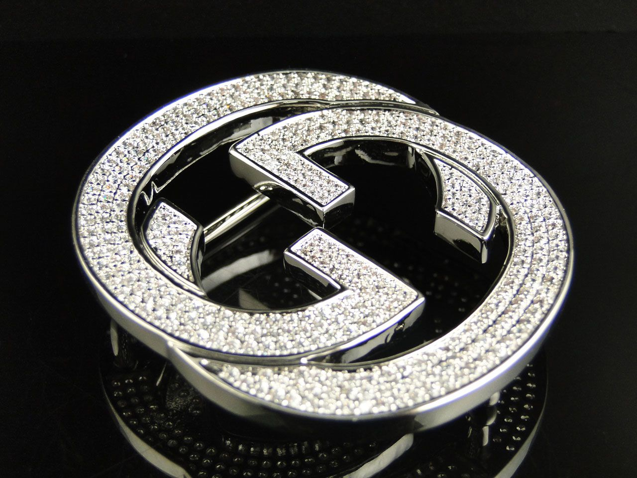 1c4e50a8c7d Real Gucci Belts for Men | about Mens Iced Out White Simulated ...