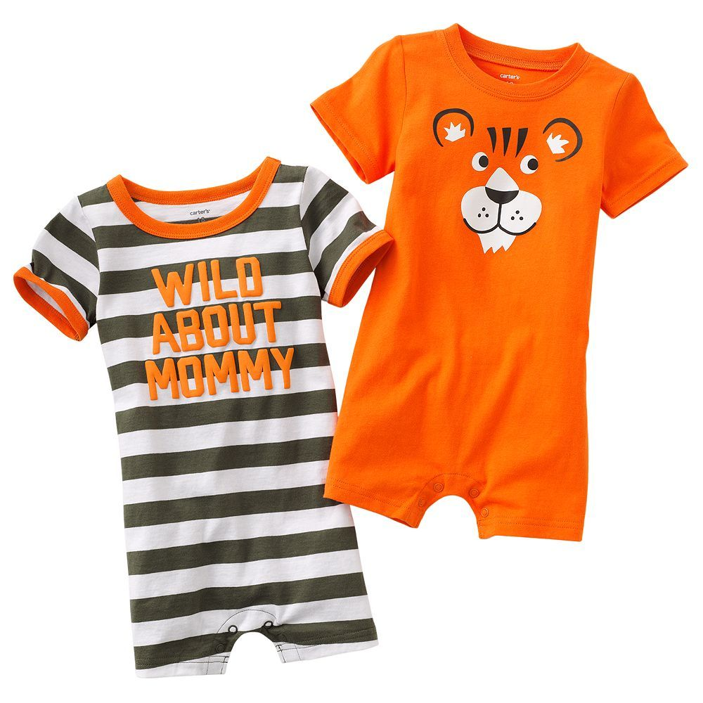 Kohls Baby Boy Clothes Fascinating Pounce On Tiger Rompers From #carters For Your Cutie#kohls Love Design Ideas