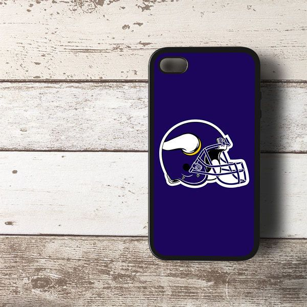 NFL Minnesota Vikings Helmet Logo HYBRID iPhone 4 4s Case Cover BLACK - PDA Accessories