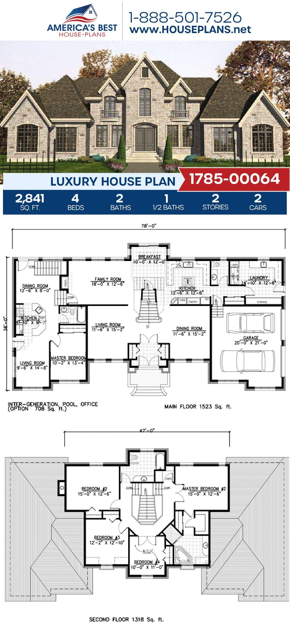 Luxury House Plan 1785 00064 House Plans Mansion Mansion Floor Plan Luxury House Plans
