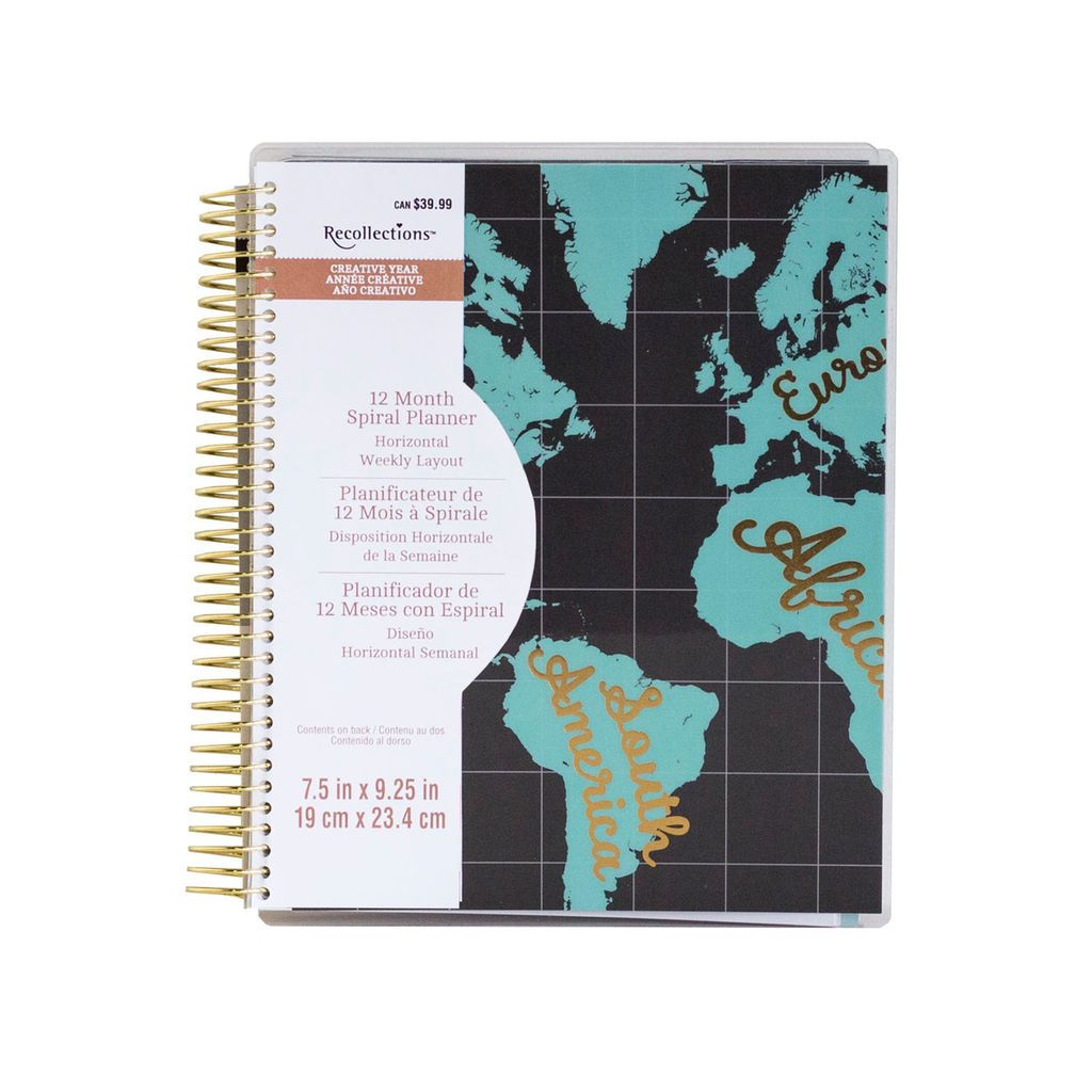 Purchase the Creative Year Map 12Month Spiral Planner By