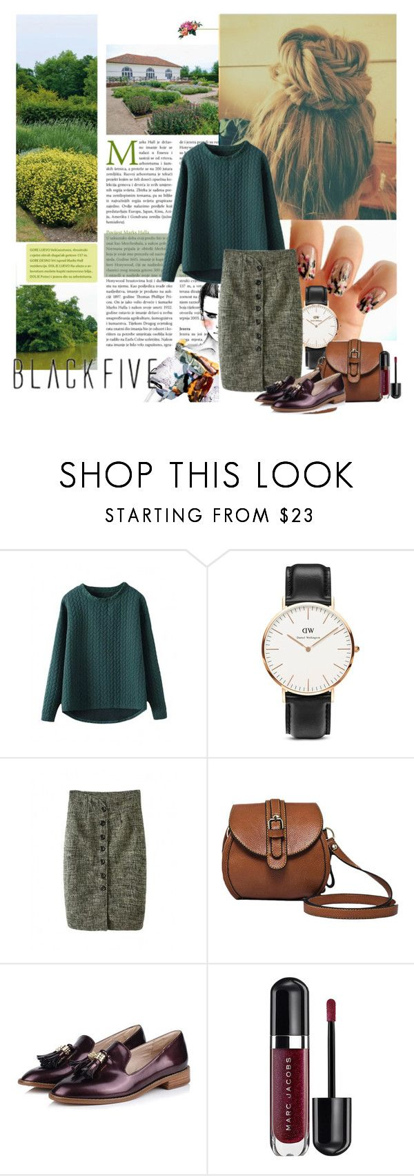 """Bez naslova #615"" by lifestyle-79 ❤ liked on Polyvore featuring Fiori, Daniel Wellington and Marc Jacobs"