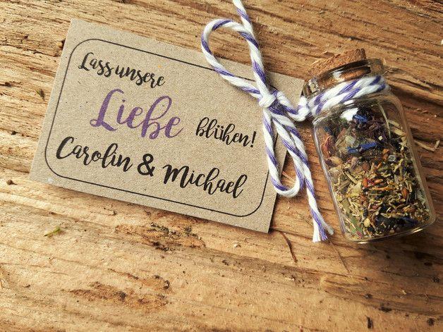 Gastgeschenk Hochzeit Blumensamen Wildblumensamen Gastgeschenke
