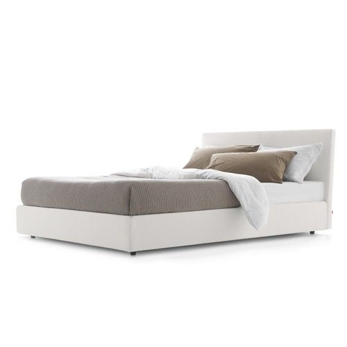 B Upholstered Storage Bed with Headboard, Queen