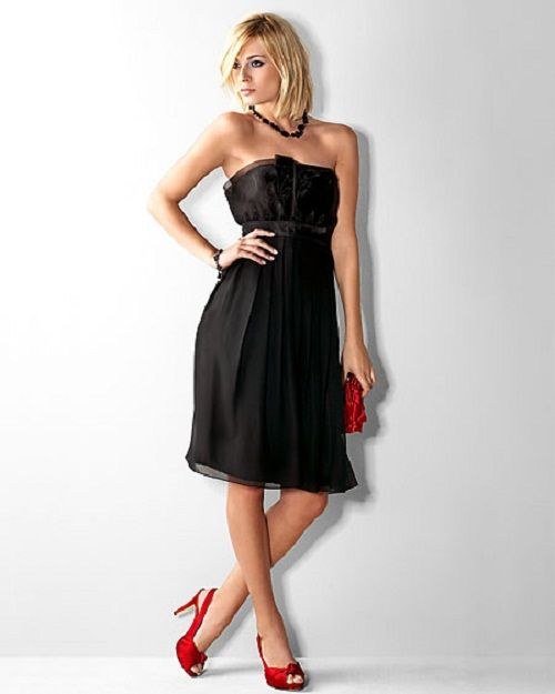 Black Bridesmaid Dresses With Red Shoes