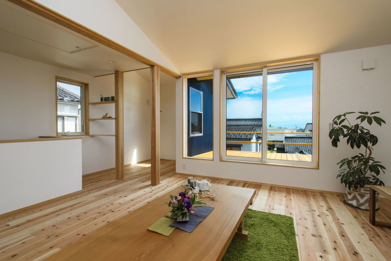 海が見える 2階リビング な家 ミヤワキホームの写真集 2階リビング