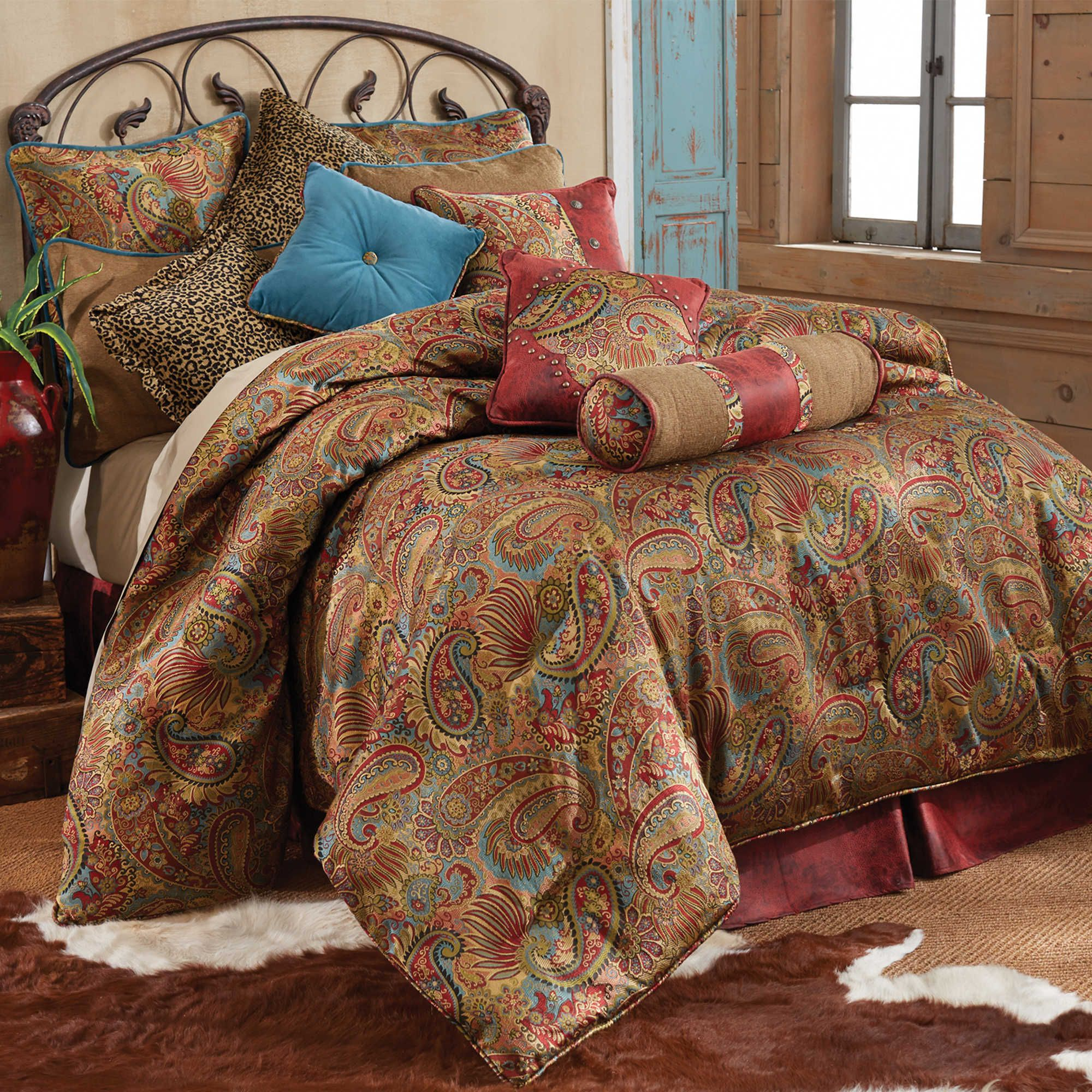 comforters ip set bedding comforter red mainstays winter printed walmart com cabin quilt green