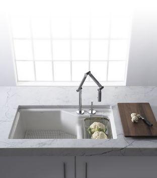 Kohler - Indio kitchen sink and Karbon kitchen faucet
