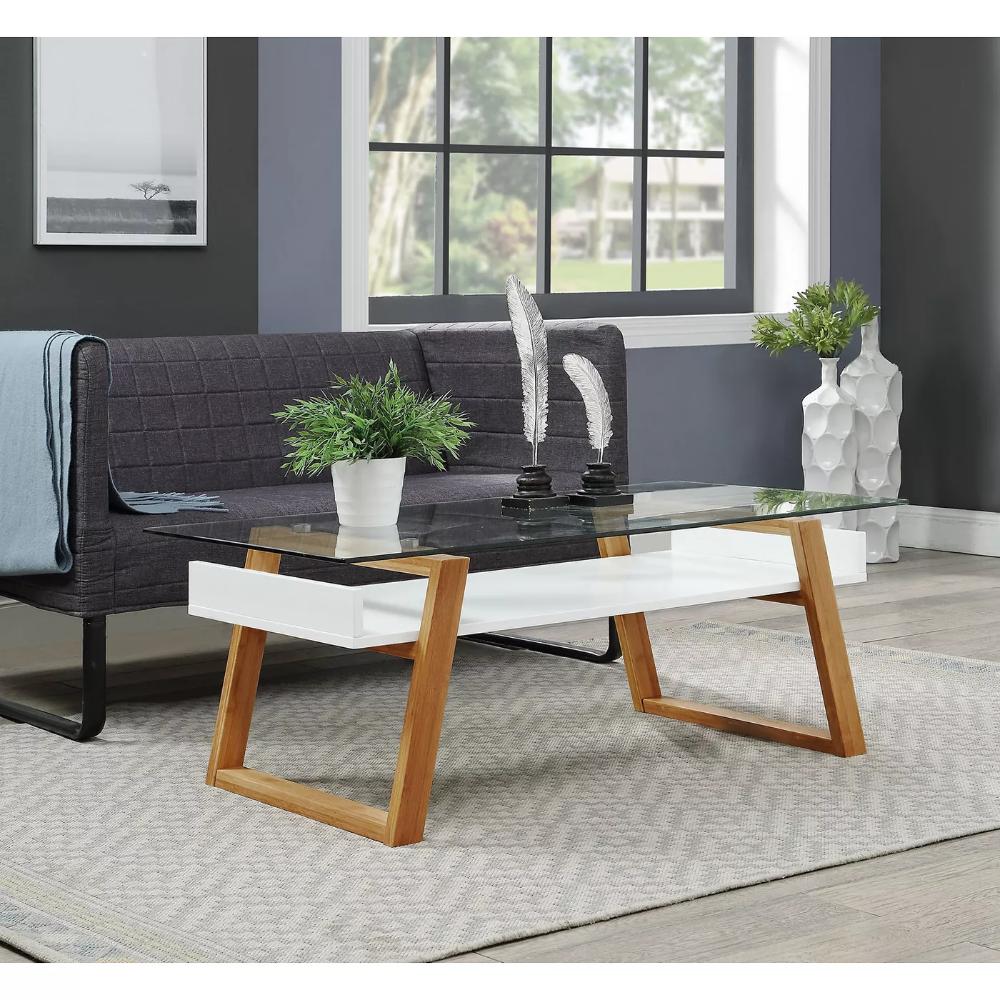 Oslo Sundance Coffee Table White Bamboo Brown Johar Furniture Target Sala [ 1000 x 1000 Pixel ]
