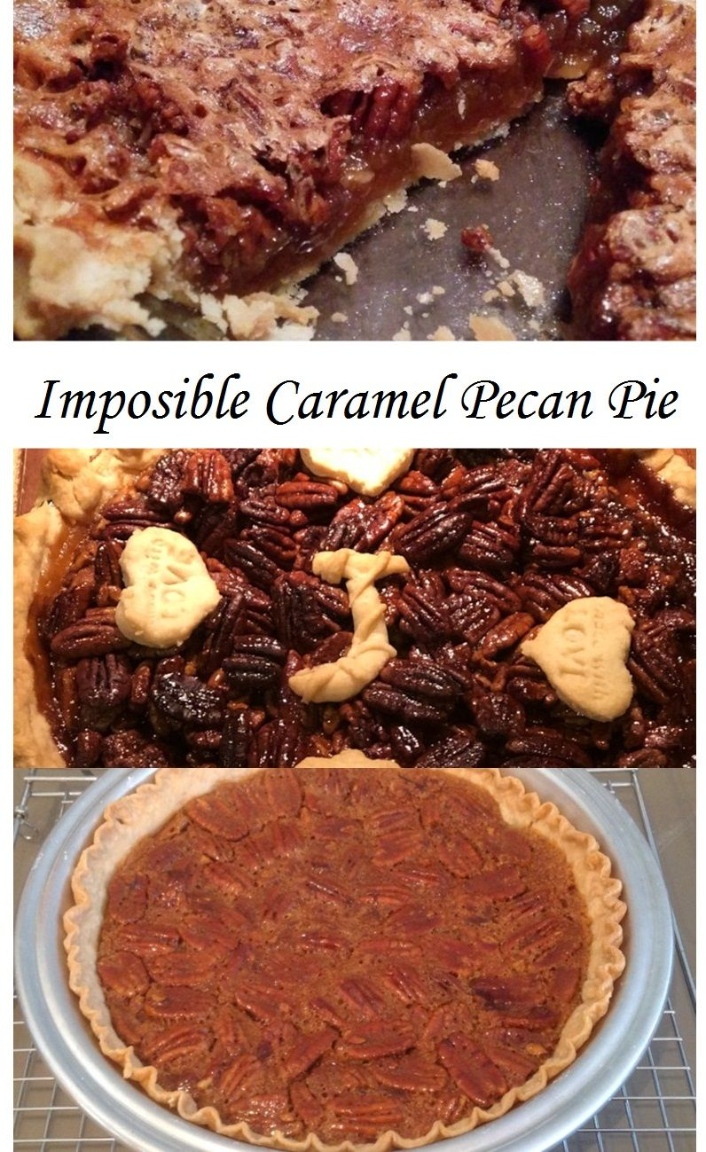 Imposible Caramel Pecan Pie images