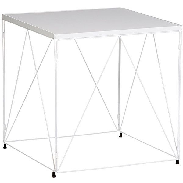 Oscar Wire Side Table White Target Australia 32 Liked On Polyvore Featuring Home Furniture Tables A Wire Side Table White Side Tables Modern Side Table