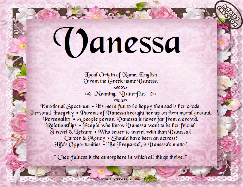 Vanessa – Name Meaning and Analysis | Meaning Of Names ...