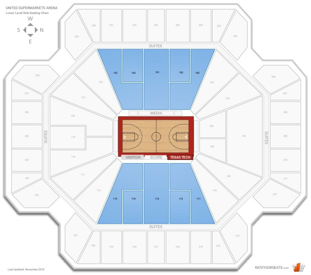 United Spirit Arena Seating Charts Chart The Unit