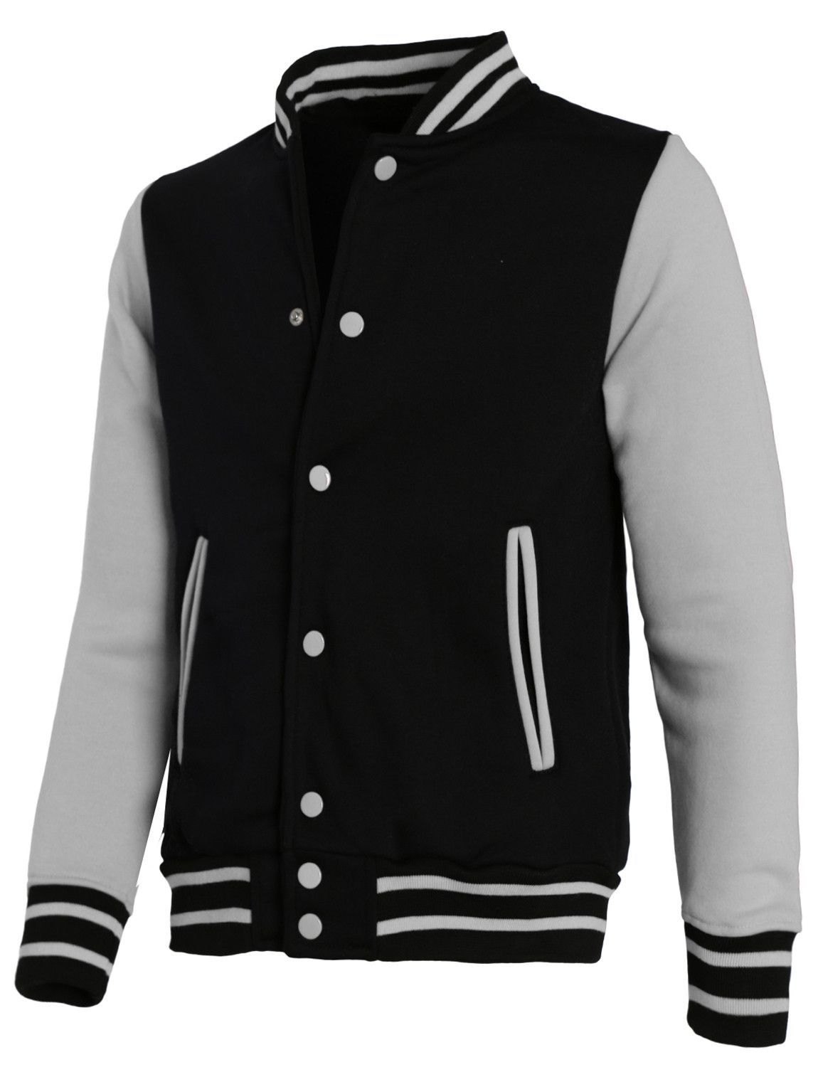 0d511327628 LE3NO Mens Casual Varsity Baseball Jacket with Detachable Hoodie ...