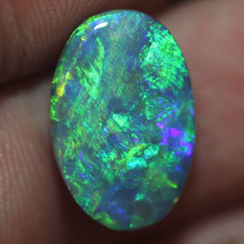 loose natural unmounted Solid Australian Black OPAL