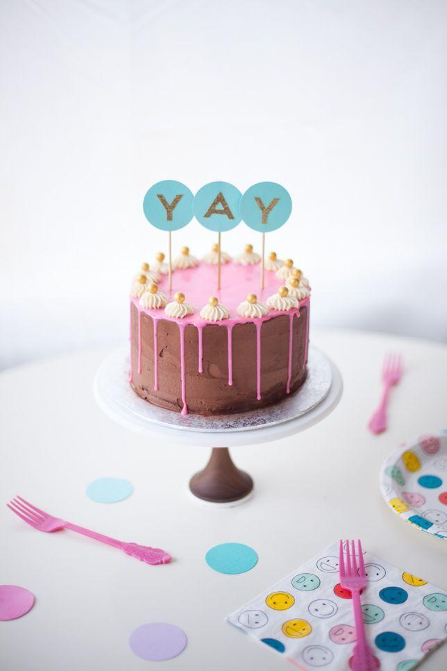 Layered Birthday Drippy Cake Recipe!