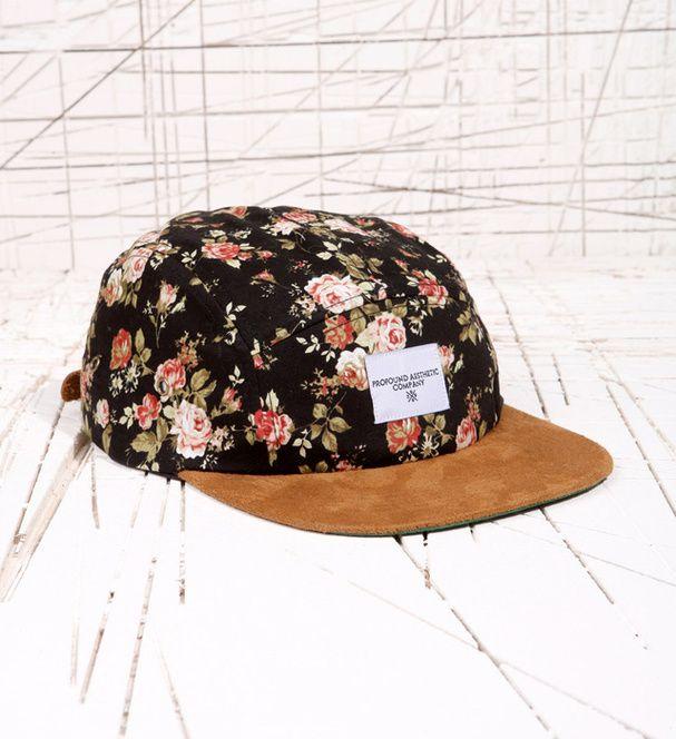 casquette femme fleur