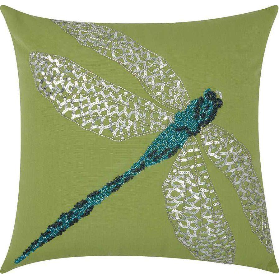 Kerry Dragonfly Indoor/Outdoor Throw Pillow | Outdoor garden & patio ...
