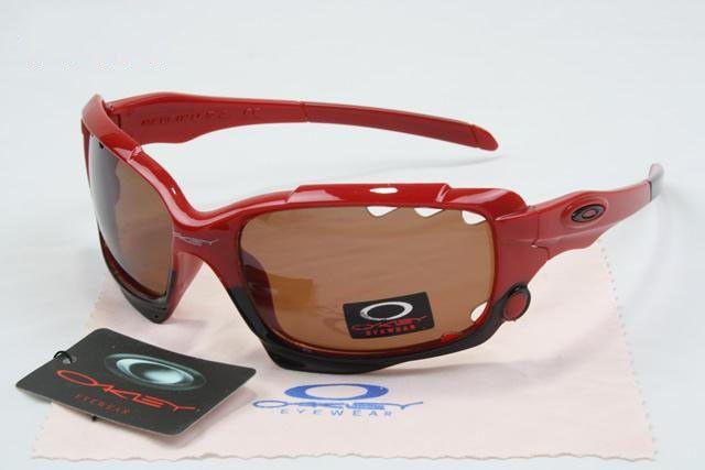 c0da07eaf73 cheap Oakley Jawbone Sunglasses polished red-black frames brown lens sale  online