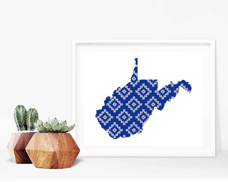 West Virginia Aztec Pattern