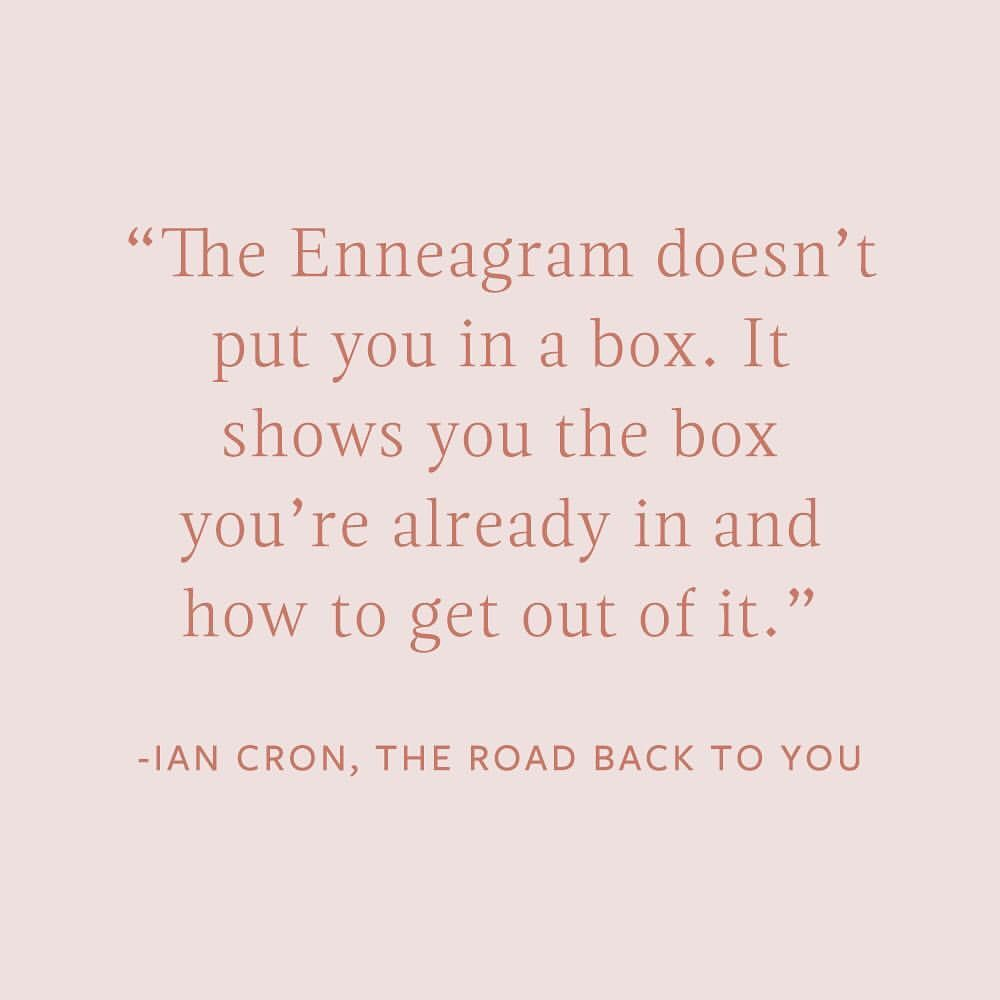And this is why we love the Enneagram! The Enneagram doesn't