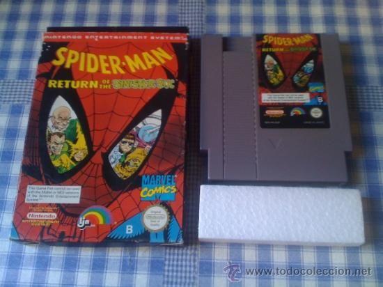 Spider-Man (Spiderman) Return of the Sinister Six Nintendo NES PAL Con Caja Versión Española