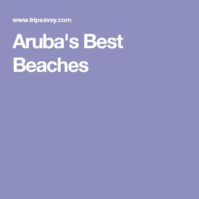 Aruba's Best Beaches