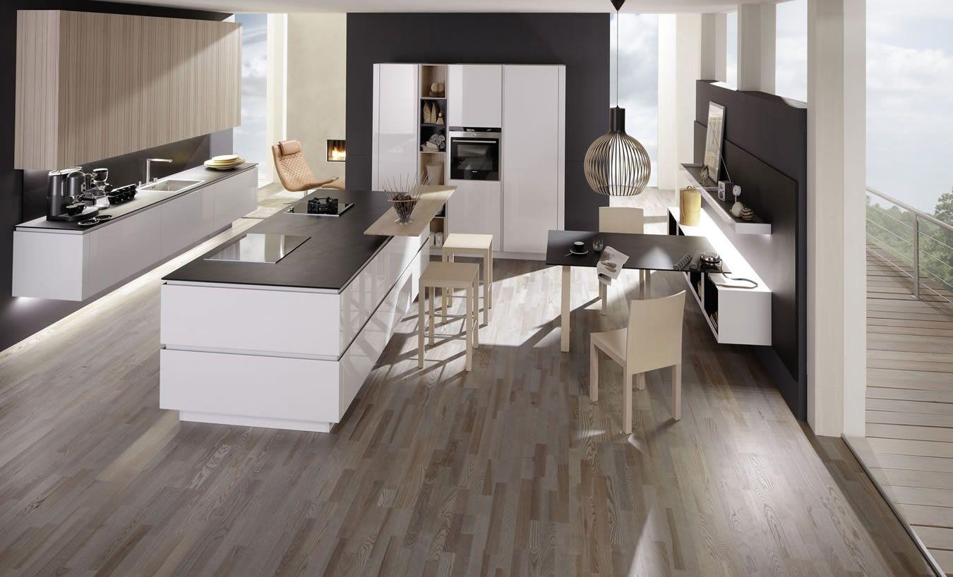 Blick Ins Kamninzimmer | Küchenideen | Pinterest | Dunstabzug, Kochinsel  Und Betonoptik