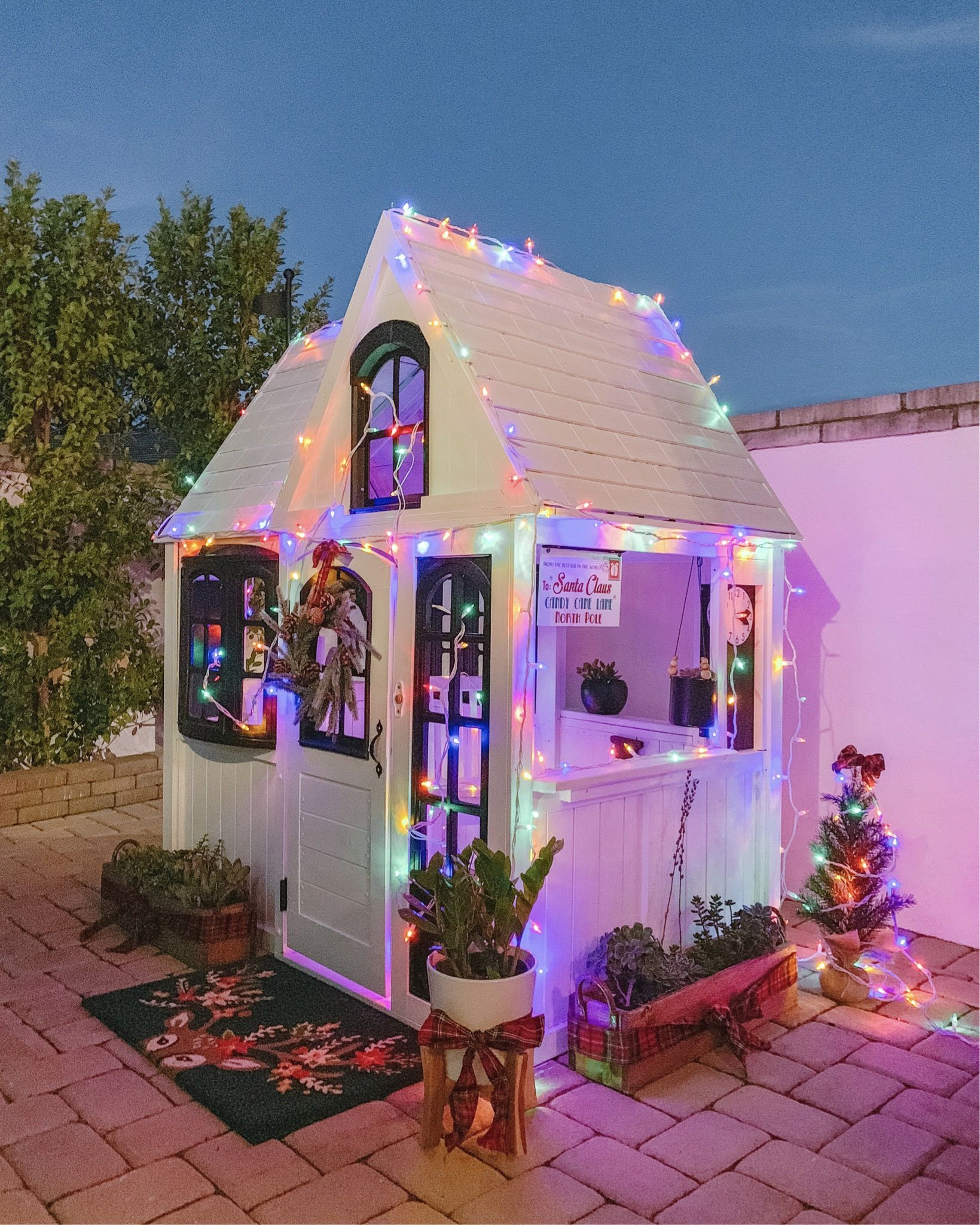 Our Playhouse Decorated Holidays + Fall + Winter + Spring