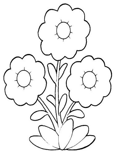 Pin de I T en Coloring - Flowers | Pinterest | Molde, Manualidades ...