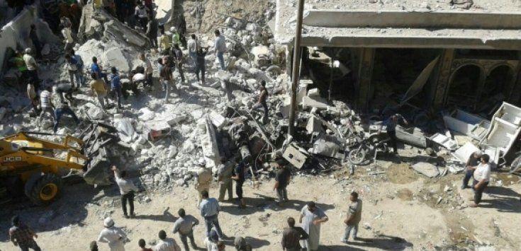 Ataques con misiles en Siria
